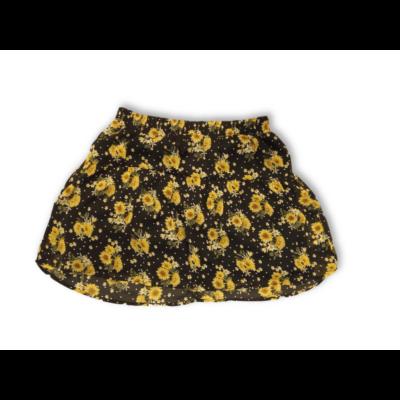 Női M-es fekete-sárga virágos szoknya - Janina - ÚJ