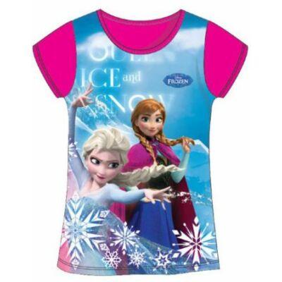 128-as mályvaszínű póló - Frozen, Jégvarázs - ÚJ