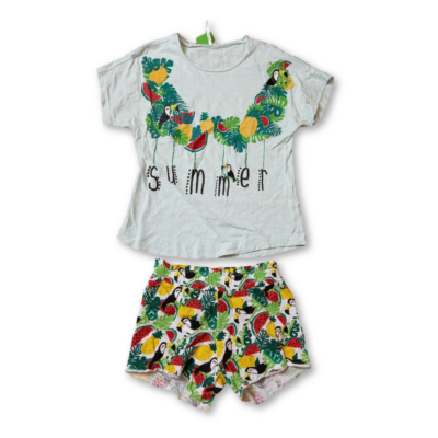 122-es zöld tukános nyári pizsama - Tezenis