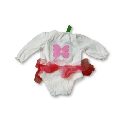 62-es fehér-pink tüllszoknyás hosszúujjú body - Nutmeg