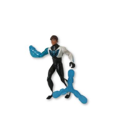 Fekete-kék harcos figura