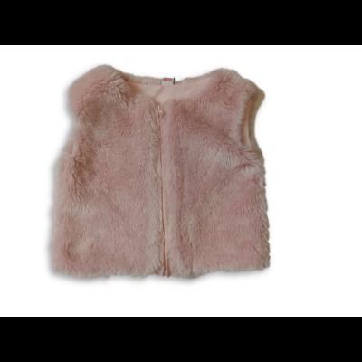 80-86-os rózsaszín szőrmés mellény - TU