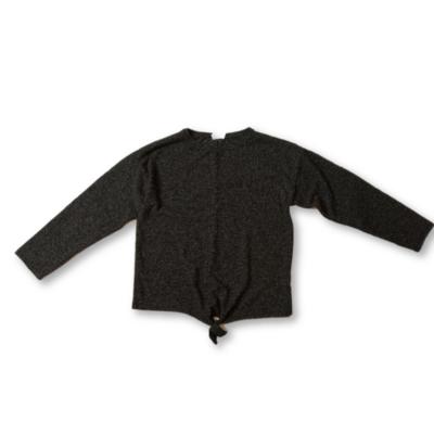 164-es szürke-fekete melírozott kötött pulóver lánynak -  Zara