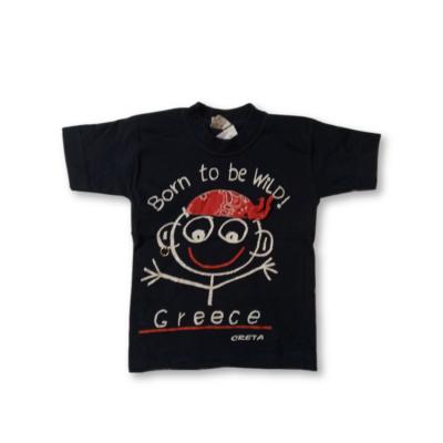 92-es fekete kalóz-kisfiús póló