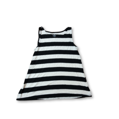 Női XS-es fekete-drap csíkos ujjatlan póló - Luxe