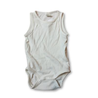 68-as fehér bordás anyagú ujjatlan body - H&M