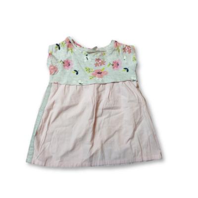 74-es rózsaszín-szürke virágos ruha - Ergee - ÚJ