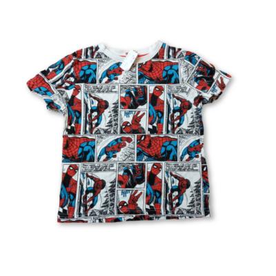 116-os fehér képregényes póló - Spiderman, Pókember - Marvel