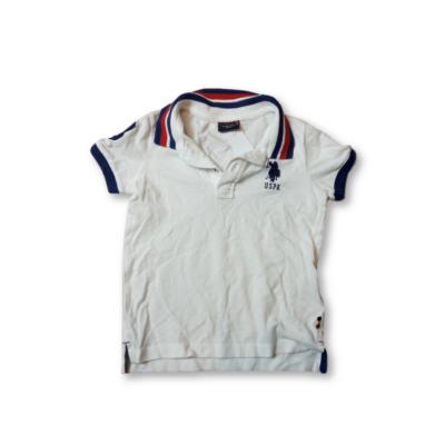 110-es fehér galléros piké póló - U.S. Polo Assn.