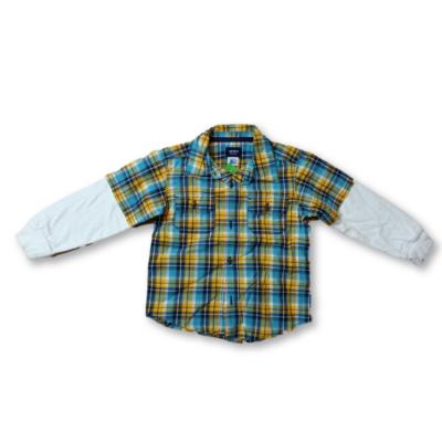 92-es sárga-kék kockás hosszúujjú ing - Carters
