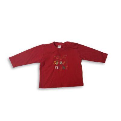 80-as piros feliratos pamutfelső - Next