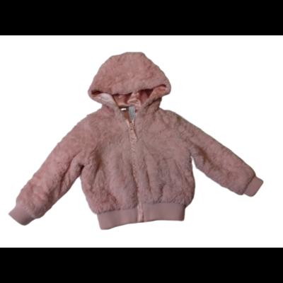 92-98-as rózsaszín szőrmés átmeneti kabát - George