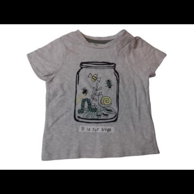 86-92-es szürke bogárkás fiú póló - F&F