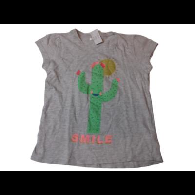128-as szürke kaktuszos lány póló - Pepco