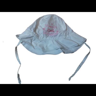 46-48 cm-es fejre fehér-rózsaszín hímzett nyári kalap