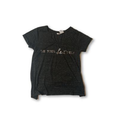 Női M-es szürke feliratos póló - Pepco