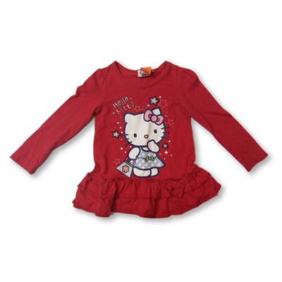92-es piros tunika - Hello Kitty