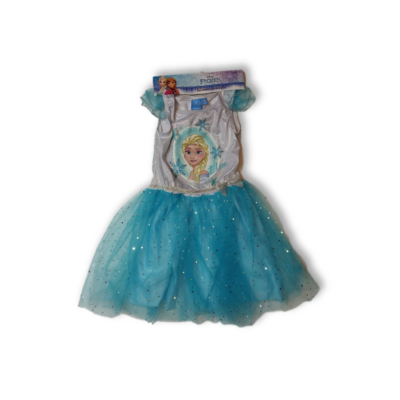 128-134-es ezüst-kék tüllös ruha, jelmeznek is jó - Frozen, Jégvarázs - ÚJ