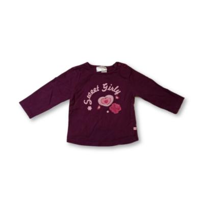 86-os lila szívecskés pamutfelső - Okay
