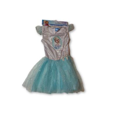 122-128-as kék-ezüst tüllös ruha, jelmeznek is jó - Frozen, Jégvarázs - ÚJ