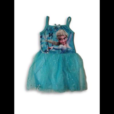 110-es kék pántos tüllös ruha, jelmeznek is jó - Frozen, Jégvarázs - ÚJ