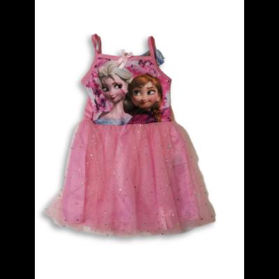 128-as rózsaszín tüllös ruha, jelmeznek is jó - Frozen, Jégvarázs - ÚJ