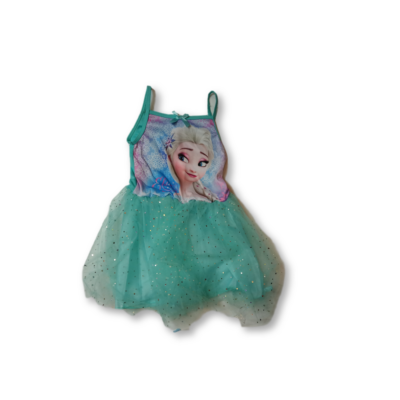 116-os türkiz tüllös ruha, jelmeznek is jó - Elsa - Frozen, Jégvarázs - ÚJ