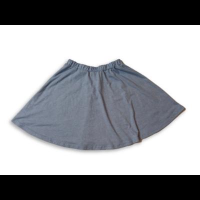 164-es kék bőaljú pamut miniszoknya