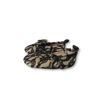 Drapp-fekete csipkés babacipő, kocsicipő - Guess