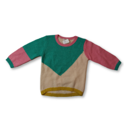 92-es színes mintás vékony lány kötött pulóver - Next