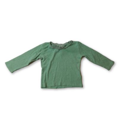 80-86-os zöld áttört mintás pamutfelső - Next
