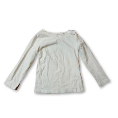 92-es fehér lányka pamutfelső - H&M