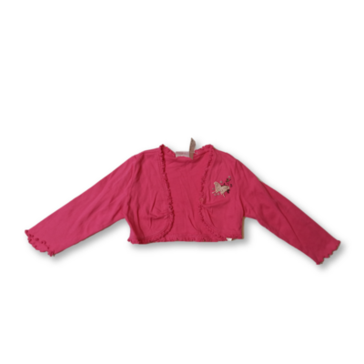 110-es pink lepkés pamut boleró - Dopodopo
