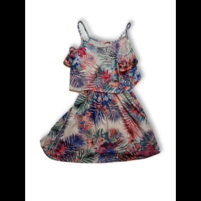 158-as színes pántos pamut ruha - Miss Evie