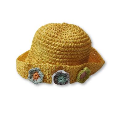 52-54 cm-es fejre sárga virágos szalmakalap - C&A