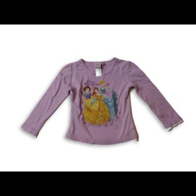 92-98-as lila pamutfelső - Hercegnők -Disney