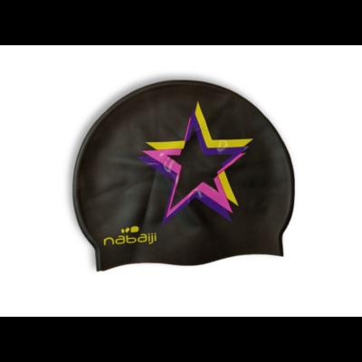 Kamasz méretű fekete-lila úszósapka - Decathlon