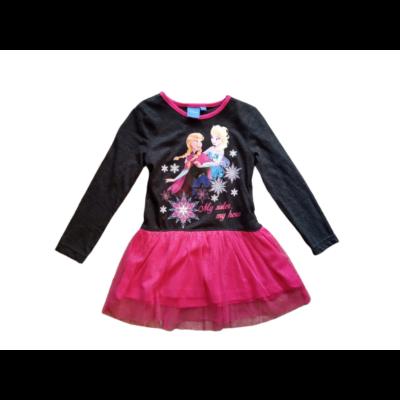 92-es szürke-pink tüllös ruha - Frozen, Jégvarázs - ÚJ