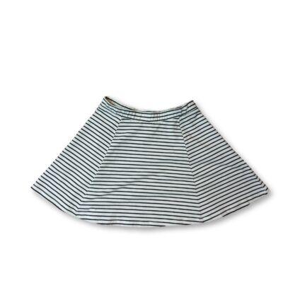 146-152-es fehér-fekete csíkos pamutszoknya - H&M
