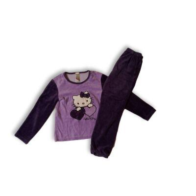 122-128-as lila plüss pizsama - Hello Kitty