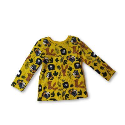 92-es sárga állatos pamutfelső - Pepco - ÚJ