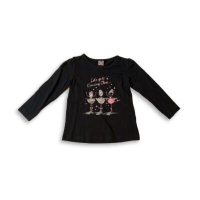 92-es fekete balettozó kislányos pamutfelső - Kiki & Koko - ÚJ