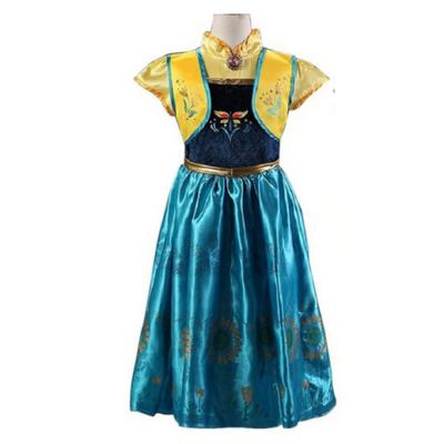 128-134-es kék-sárga Anna jelmez - Frozen, Jégvarázs - ÚJ