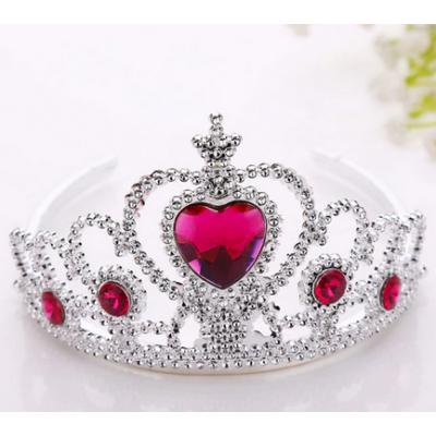 Pink köves ezüst tiara - ÚJ