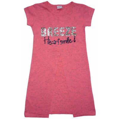 134-es rózsaszín flitteres hosszított póló - ÚJ