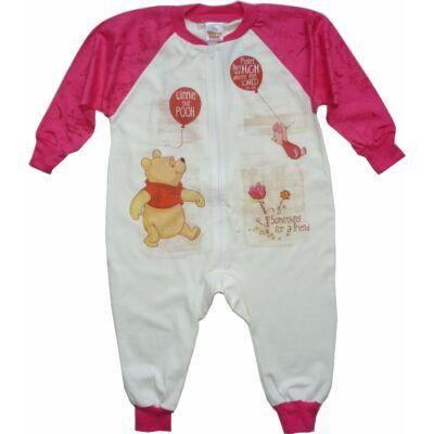 80-86-os drapp-rózsaszín kezeslábas pizsama - Micimackó - ÚJ