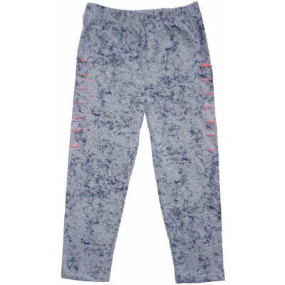 128-as szürke-pink háromnegyedes szaggatott leggings - ÚJ