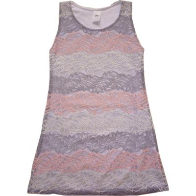 116-os szürke-rózsaszín csipkés alkalmi ruha - ÚJ