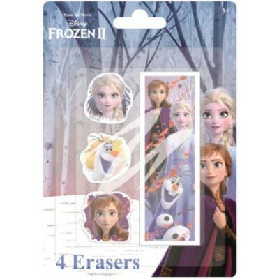 Radír szett, 4 db-os - Frozen, Jégvarázs - ÚJ