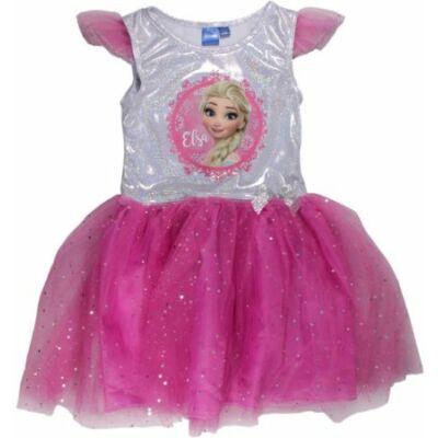 110-116-os rózsaszín tüllös ruha, jelmeznek is jó - Frozen, Jégvarázs - ÚJ